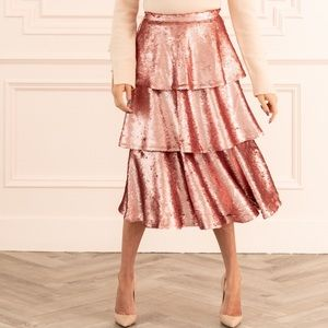 NWT Rachel Parcell Tiered Sequin Skirt